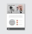 template design brochure annual report magazine vector image vector image