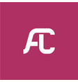 two letters a and c ligature logo vector image