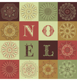 Vintage Christmas Noel Background vector image vector image