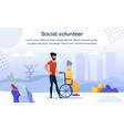 volunteering for disabled people banner vector image