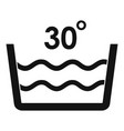 wash in cold water icon simple style vector image