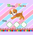 worksheet writing practice alphabet d for dog vector image vector image
