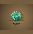 world environment and earth day concept vector image