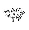 you light up my life hand drawn creative vector image