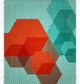 Book cover background design Retro style vector image