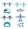 bridge logos collection of isolated vector image