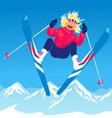 Girl ski jumping vector image