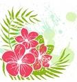 flower grunge background vector image