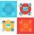 social media marketing web banners templates vector image