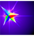 abstract background with glowing crystal vector image vector image