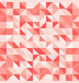abstract red triangle and square in red or orange vector image vector image