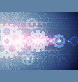 background gears future technology conceptual vector image
