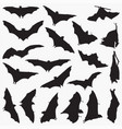 bat silhouettes vector image