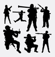 Bazooka weapon soldier silhouette vector image