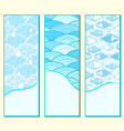 Blue Banner Set vector image