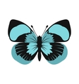 Blue butterfly icon in flat style vector image vector image