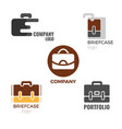briefcase logos collection of on vector image vector image