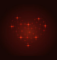 bright constellation in the shape of a heart vector image vector image