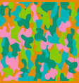 camouflage seamless pattern in a pink blue vector image vector image