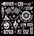 car repair and racing badges vector image vector image