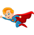 Cartoon superhero boy isolated on white background vector image vector image