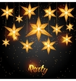 Celebration party background with starsornament vector image vector image