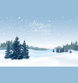 christmas background snow winter landscape with vector image vector image