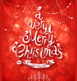 christmas blurred red bg vector image vector image