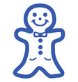 christmas cookie icon vector image