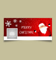 christmas timeline cover design vector image vector image