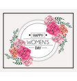 circle sticker to womens day celebration with vector image vector image