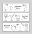 cocktail menu vector image