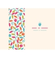 Colorful Branches Horizontal Frame Seamless vector image vector image