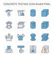 concrete testing icon vector image vector image