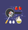 Cooking Concept Ingredients for Omelette with vector image vector image