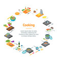 cooking or preparation food banner card circle vector image
