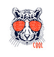 cool tiger head hand drawing vector image vector image