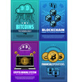 cryptocurrency bitcoin crypto money technology vector image vector image