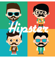 Cute of characters in hipsters vector image