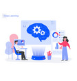 deep learning concept modern flat design concept vector image vector image
