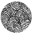 doodle circle 4 vector image vector image