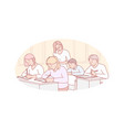 education teaching school concept vector image vector image
