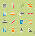 Engineering simply icons vector image