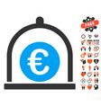 euro standard icon with love bonus vector image vector image