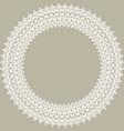 floral modern round white frame vector image vector image