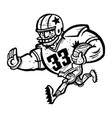football player cartoon vector image vector image