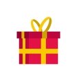 Gift in a box icon flat style vector image vector image
