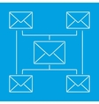 Globe email newsletter pictogram vector image
