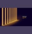 glowing golden neon lights line background design vector image vector image