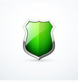 green shield icon vector image vector image